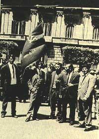 1966. Peppino con altri militanti del PSIUP