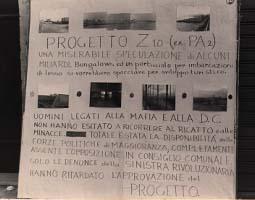 """7 maggio 1978. Mostra """"Mafia e territorio"""".  Progetto Z10"""
