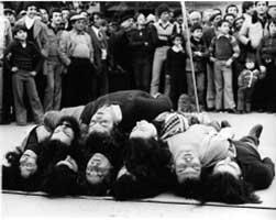 Aprile 1978. Terrasini. Animazione sulla morte atomica