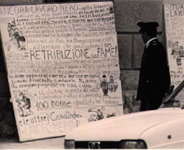 7 maggio 1978. Mostra del Collettivo femminista di Cinisi e Terrasini, durante la campagna elettorale
