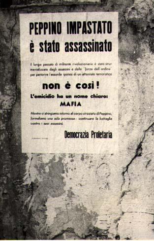 Sui muri di Cinisi, subito dopo l'assassinio